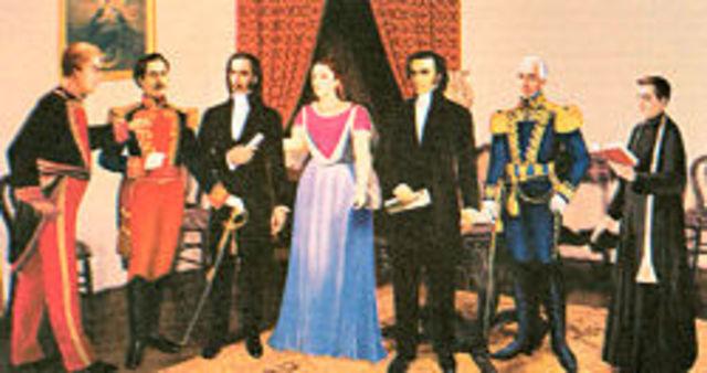 GOBIERNO PENTAVIRO (CINCO MIEMBROS)   PRIMERA JUNTA DE GOBIERNO