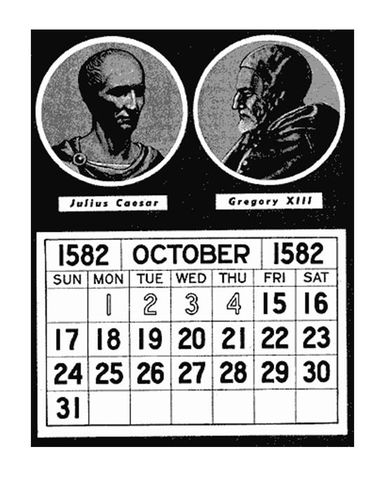 Gregorian calendar introduced by Pope Gregory the 13th