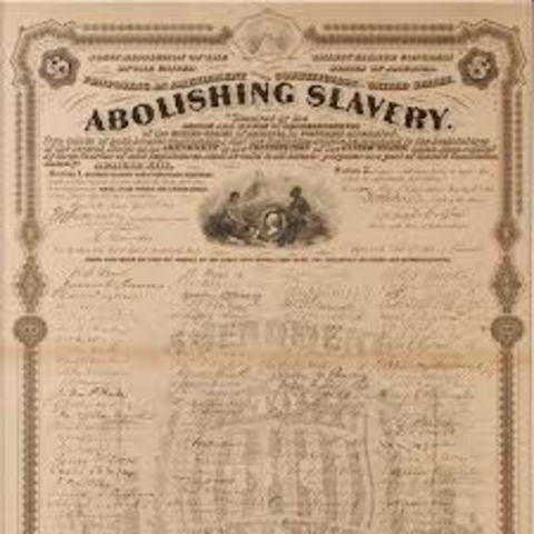 13th amendment to the constitution of 13th amendment to the united states constitution: section 1 neither slavery nor involuntary servitude, except as a punishment for crime whereof the party shall have been duly convicted, shall exist within the united states, or any place subject to their jurisdiction section 2 congress shall have power to enforce this article by.