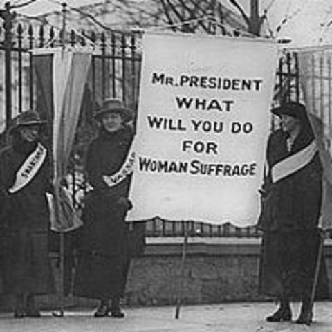 Women pickett the White House
