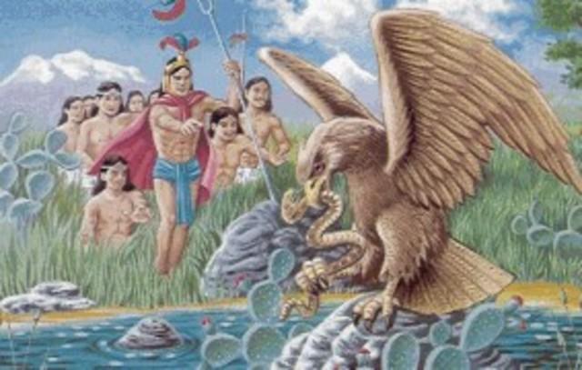 Fundación de Tenochtitlan 1325 D.C.