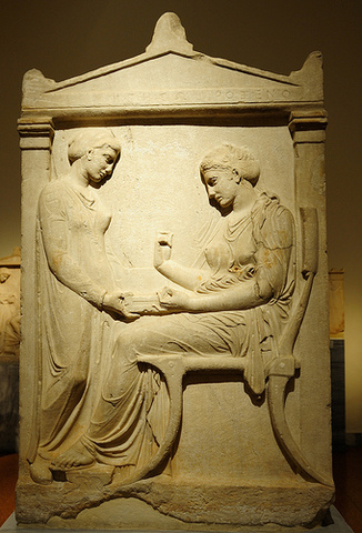 AP Art History - Richards timeline | Timetoast timelines Grave Stele Of Ktesilaos And Theano
