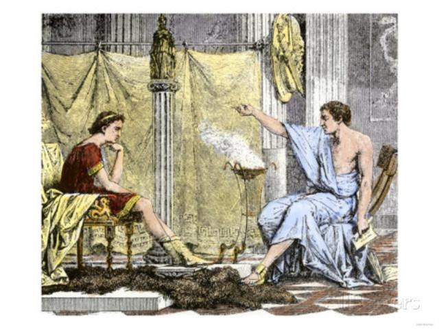 Alexander was tutored by the Greek philosopher Aristotle
