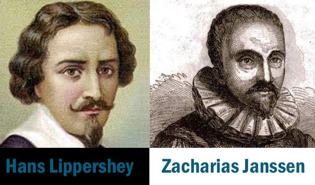 1609 Hans Lippershey y Zacharias Janssen inventan el microscopio