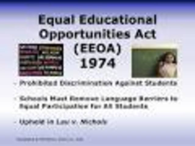 equal opportunity in education Inadequate schools impede america's long-standing quest for greater equal  educational opportunity the equal educational opportunity doctrine, traditionally .