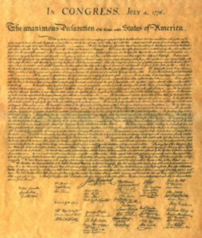 Franklin declares independence