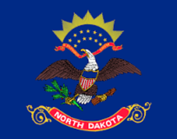 North Dakota admitted