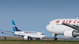 Canada's Major Airlines:  A Timeline