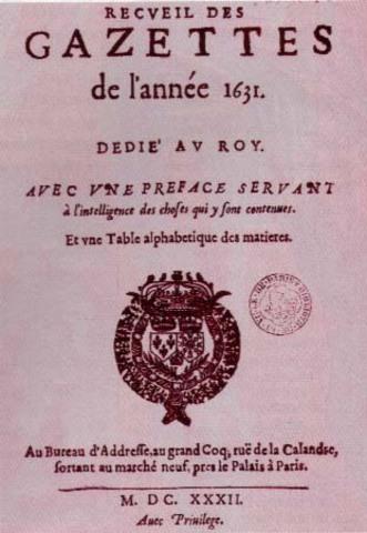 Gacetas Francesas, siglo XVII