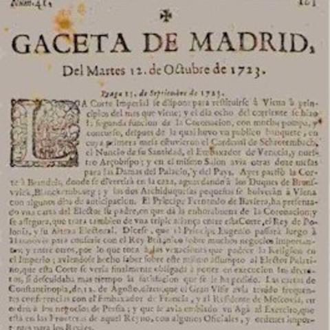 Gaceta de Madrid, siglo XVIII