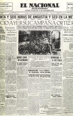 """Periódico """"El Nacional"""", 1929"""