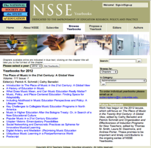 National Society for the Study of Education (NSSE)