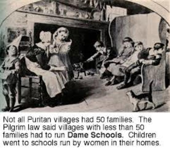 1. Education in the Colonial Period (1620-1640)