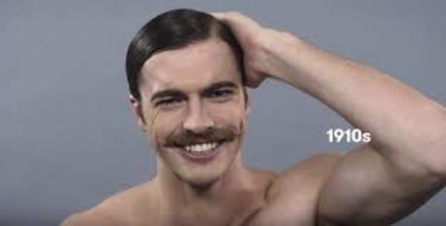 Peinado en hombres atravez del tiempo timeline timetoast - Como hacer peinados hombre ...