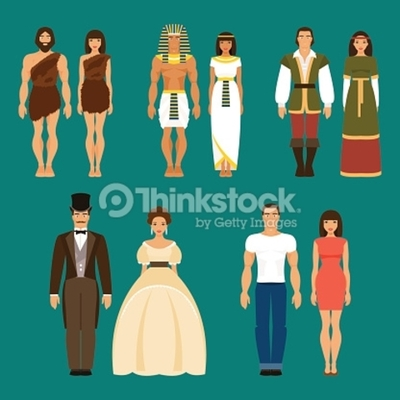 Evolucion de la vestimenta humana timeline