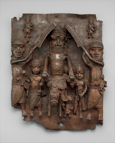 Wall plaque, from Oba's palace.