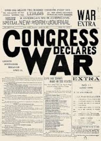 U.S. Declares war on Spain - Part One