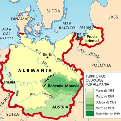 Expansionismo Nazi timeline