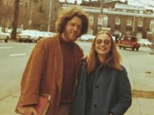 Bill Clinton at Yale law school