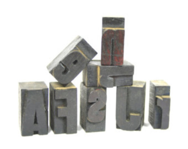 Wood Blocks Used to print images and large capital letters