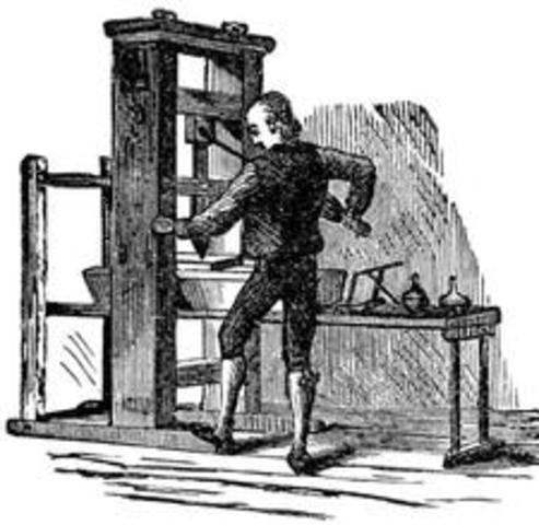 Johannes Gutenburg First Printing press