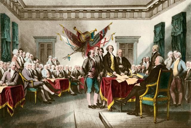 La déclaration d'indépendance du 4 juillet 1776