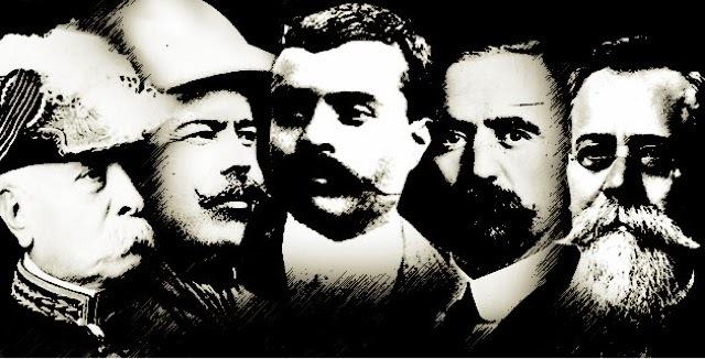 Asesinatos de Madero, Zapata, Villa, Carranza y Obregon