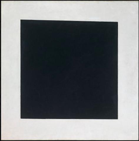 El Suprematismo, Malevich Cuadrado Negro en Fondo Blanco