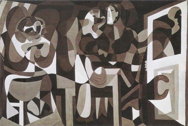 """Cubismo curvilíneo """"El taller de la modista"""" de Pablo Picasso"""
