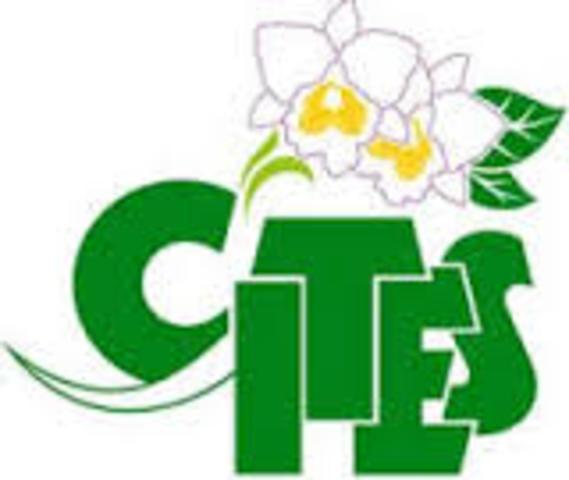 Firma del convenio de las partes (CITES)