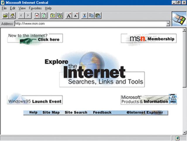 MICROSOFT LANZA INTERNET EXPLORER 1