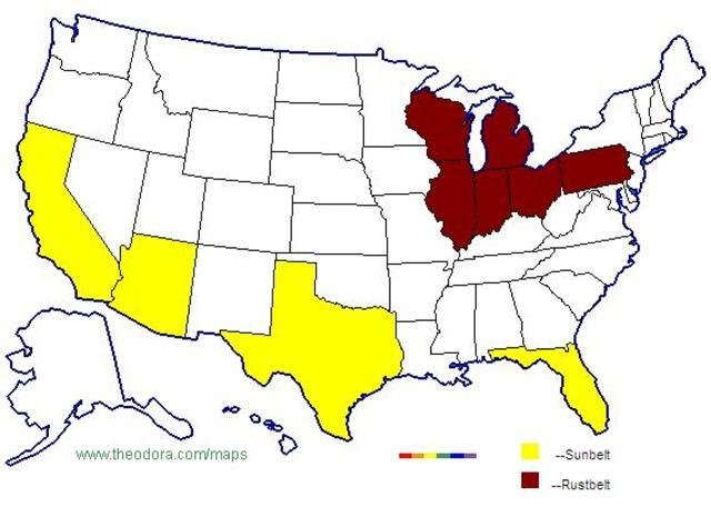 Rust Belt States Map.Cold War Vietnam Timeline Timetoast Timelines