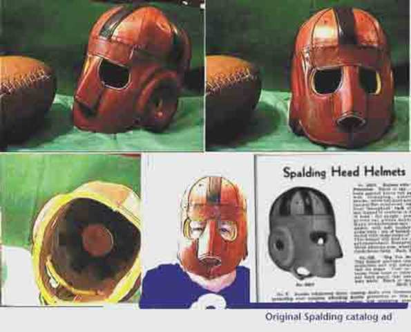 Rare Executioner Face Guard Leather Football Helmet