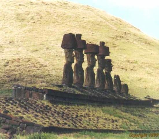 Moai on platform