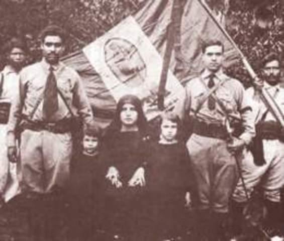 Primer levantamiento Cristero en Huejuquilla el Alto, Jalisco y Valparaíso, Zacatecas por Aurelio Acevedo.