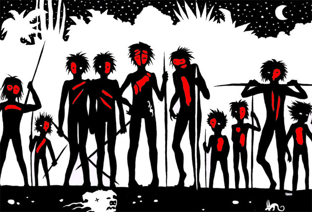 the savage side of human nature in lord of the flies by william golding Lord of the flies is a tragic exploration of unrestrained human nature and the beast inside the novel uses a group of school boys as an allegorical representation of human society stranded on a deserted island, the boys begin as a civilized society and the lure of power and dominance gradually leads them to savagery.