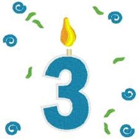 I turn 3!