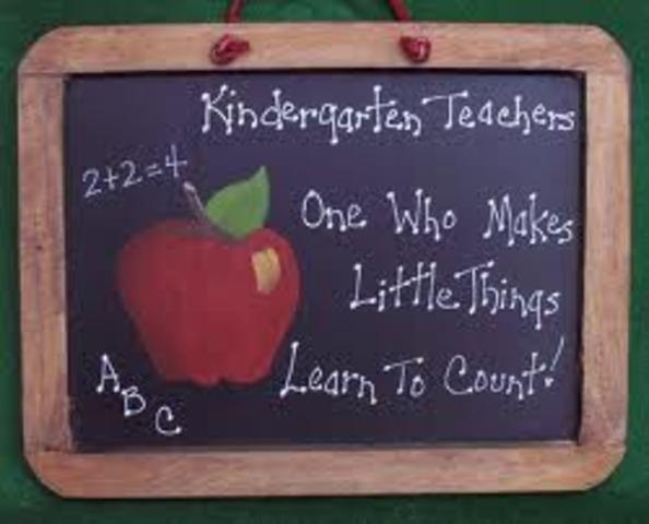 I start Kindergarden!