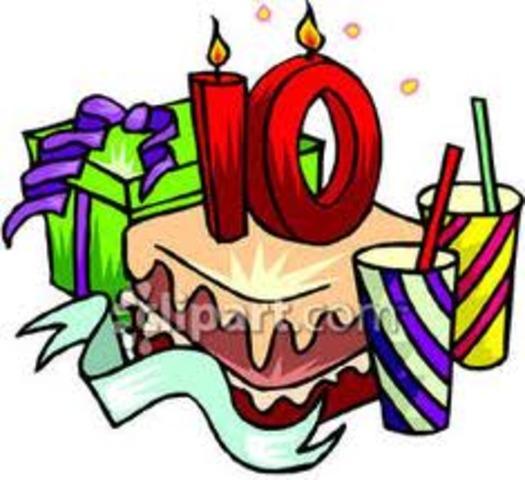 I turn 10!