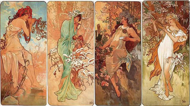 The Four Seasons, Alphonse Mucha