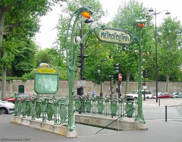 Metro sign in Paris, Hector Guimard