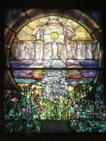 The Flight of Souls Window, Louis Comfort Tiffany
