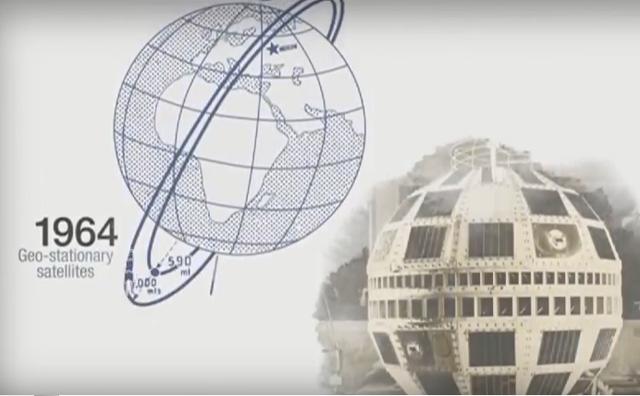 Transmisión desde el pirmer satélite geoestacionario