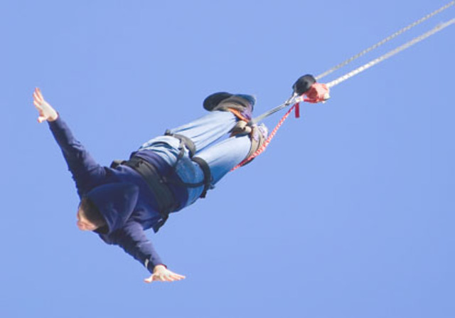 Bungee jumped for the first time