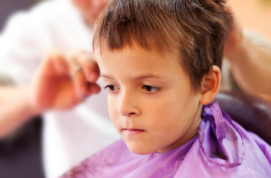 Kid at Barber