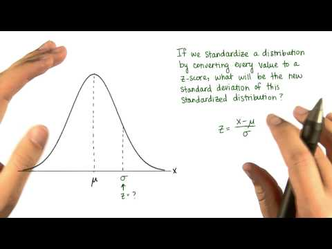 SD of Standardized Distribution - Intro to Descriptive Statistics thumbnail