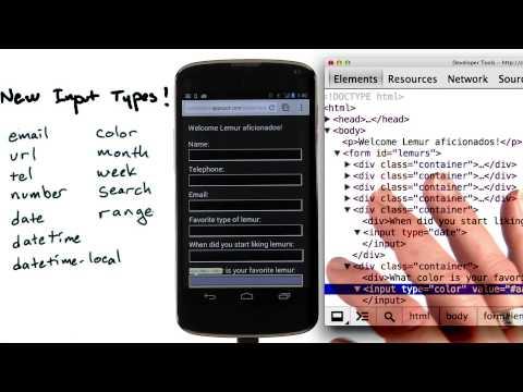 New input fields - Mobile Web Development thumbnail