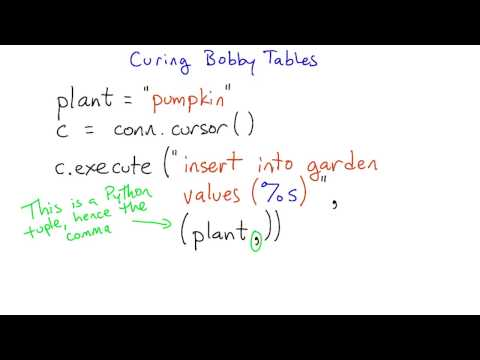 Curing Bobby Tables - Intro to Relational Databases thumbnail