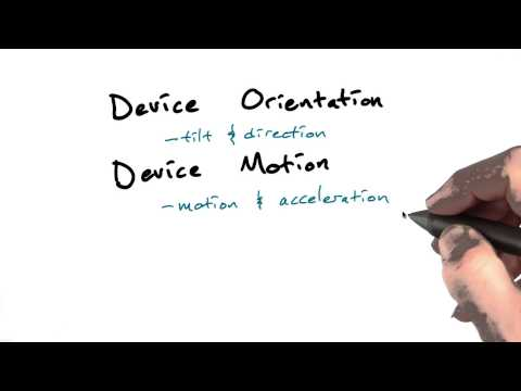 Device orientation and motion - Mobile Web Development thumbnail