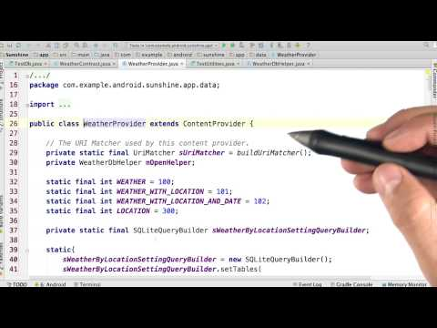 Understand the UriMatcher - Developing Android Apps